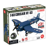 4D Master F4U Corsair VF-53 Model Airplane Puzzle - Off The Wall Toys and Gifts
