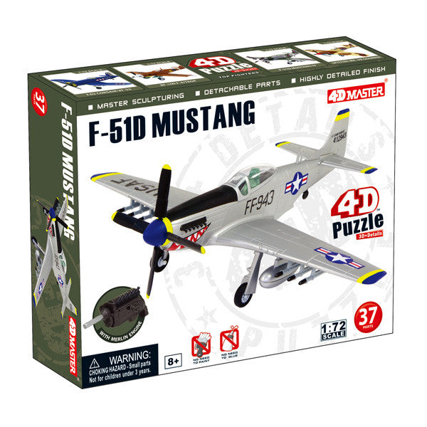 4D Master-F-51D Mustang Model Airplane Puzzle - Off The Wall Toys and Gifts
