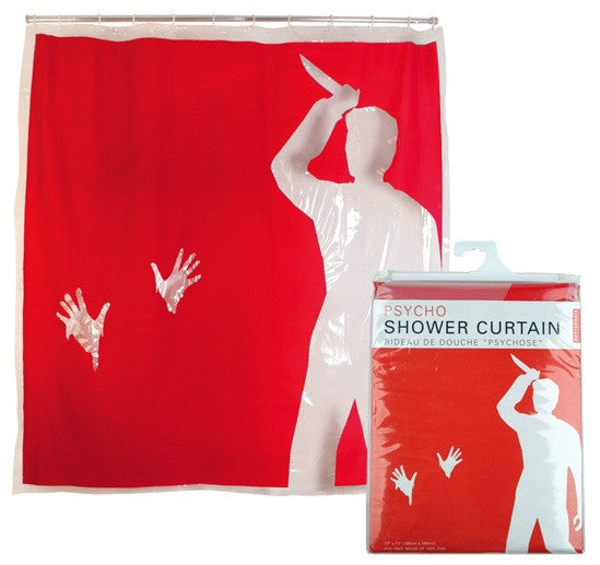 Psycho Shower Curtain 72 inch by 72 inch - Off The Wall Toys and Gifts