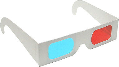 Anaglyph 3D Glasses Red/Cyan View 3D Print and Photos