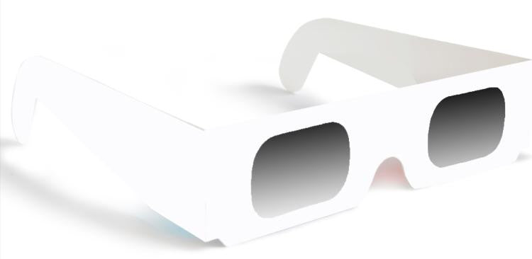 3-D Paper Linear Polarized Glasses White Quantity Discount