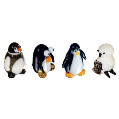 Looking Glass Torch Miniature Figurines - Set of 4 Bird Sculptures - Off The Wall Toys and Gifts