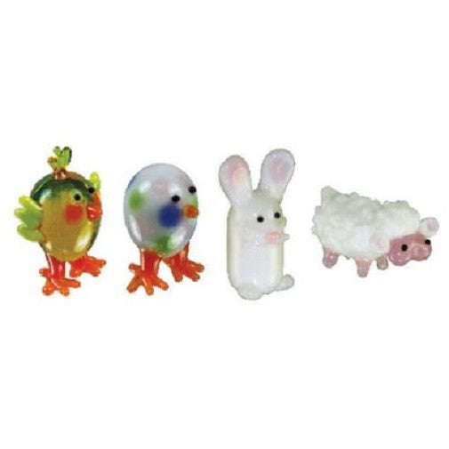 Looking Glass Torch Figurines - Bunny, Chick, Egg, Lamb- (4-Pack) Easter - Off The Wall Toys and Gifts
