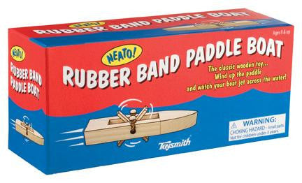 Neato! Rubber Band Paddle Boat Wooden - Off The Wall Toys and Gifts