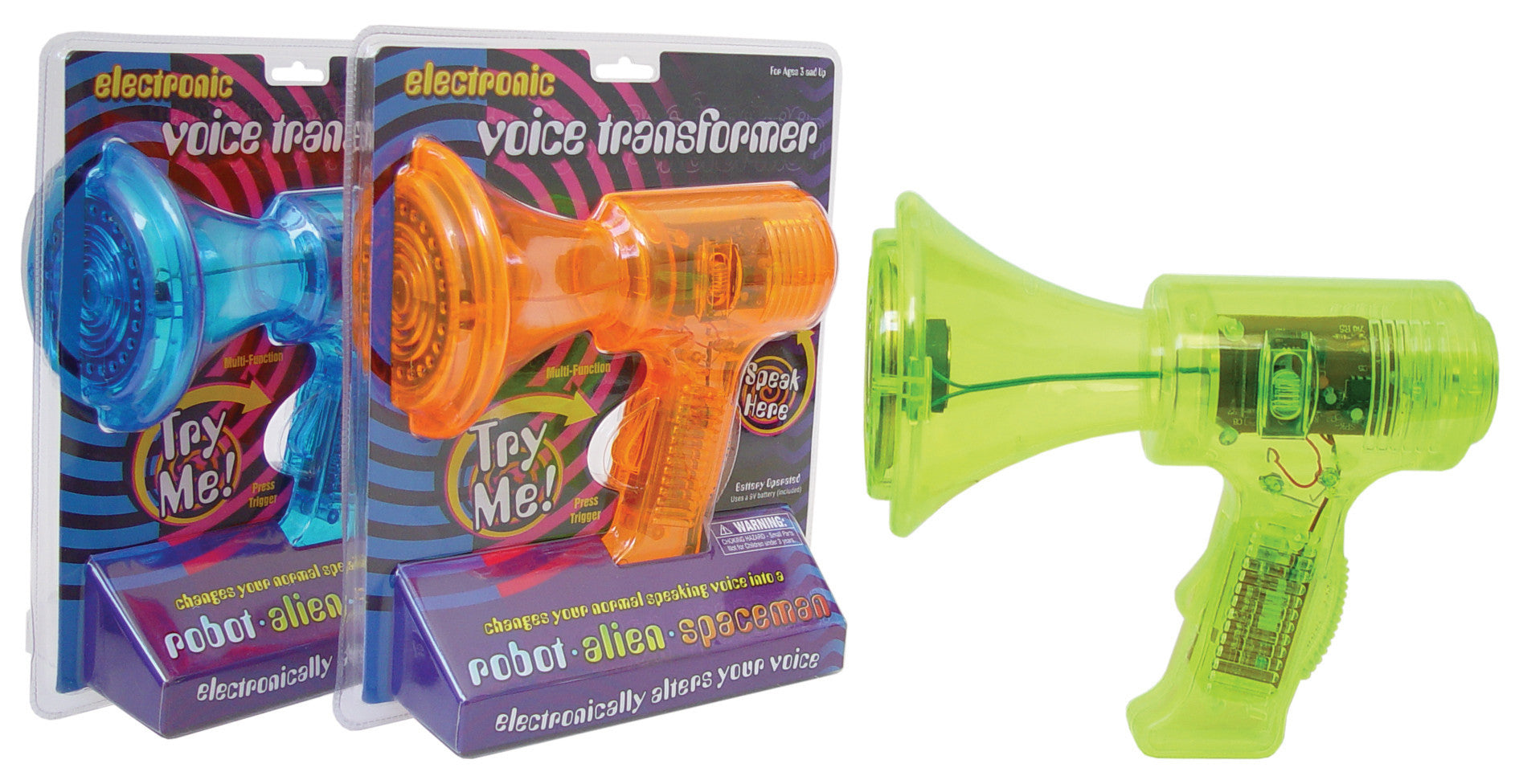 Electronic Voice Transformer - 3 Voice Effects - Colors Vary - Off The Wall Toys and Gifts