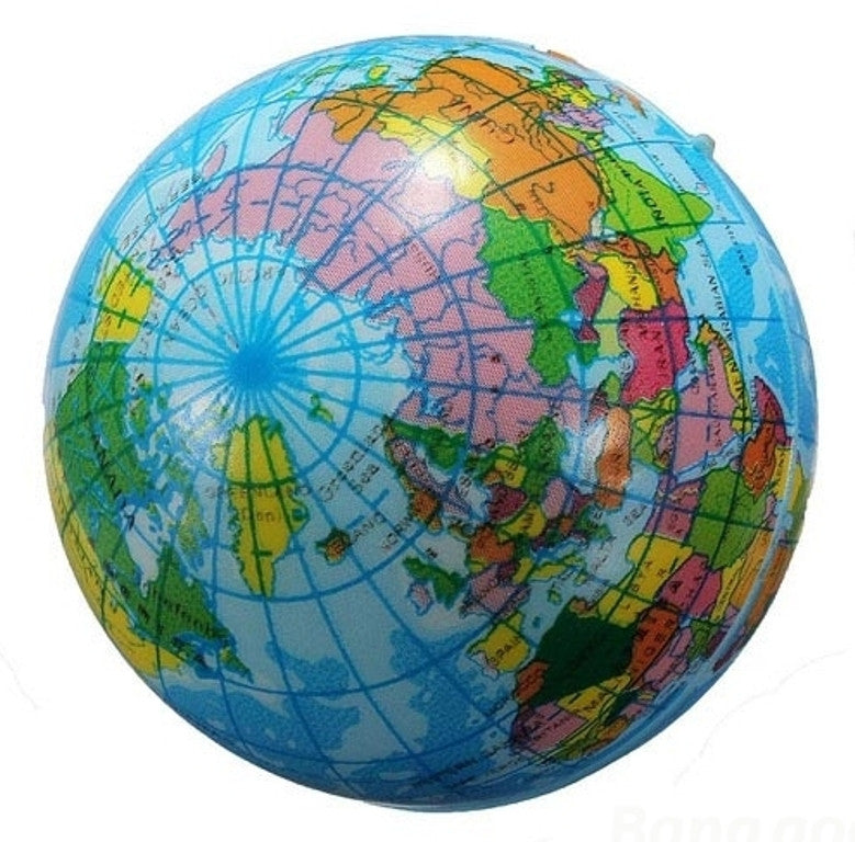 Foam Globe Squish Ball - 3 Inch