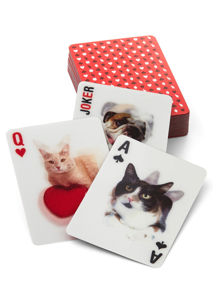 3D Cat Playing Cards By Kikkerland