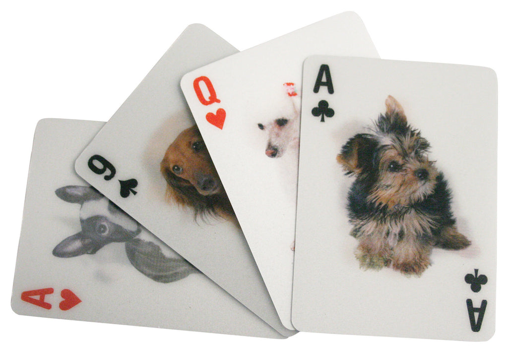 3D Dogs Playing Cards By Kikkerland