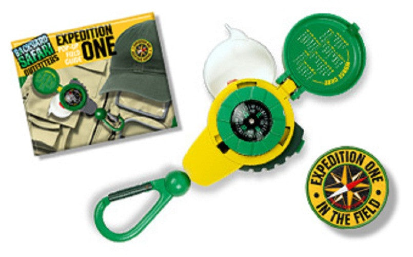 3-N-One Compass Tool for Kids - Backyard Safari Outfitters