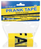 ENTER AT OWN RISK - 30' Roll of Prank Crime Scene Tape - Off The Wall Toys and Gifts