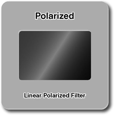 "Linear polarized filter slide 2""x2"" slides"