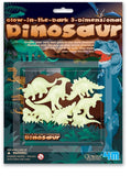 4M Glow In The Dark 3D Dinosaurs Set of 8 - Off The Wall Toys and Gifts