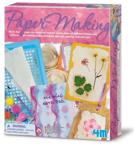 Paper Making Kit a 4M Kit Make A Card, Notepad, Bookmark Science Project - Off The Wall Toys and Gifts