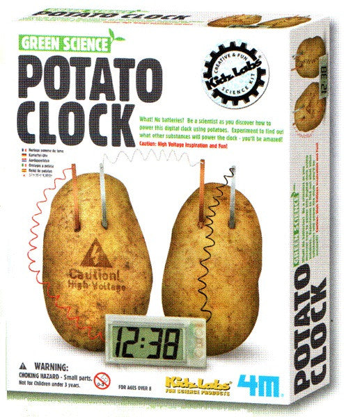 Potato Clock - Green Science Electrochemical Cell by 4M - Off The Wall Toys and Gifts