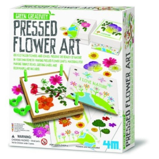 Pressed Flower Art a 4M Kit/ Make  a Trinket Box & More - Off The Wall Toys and Gifts