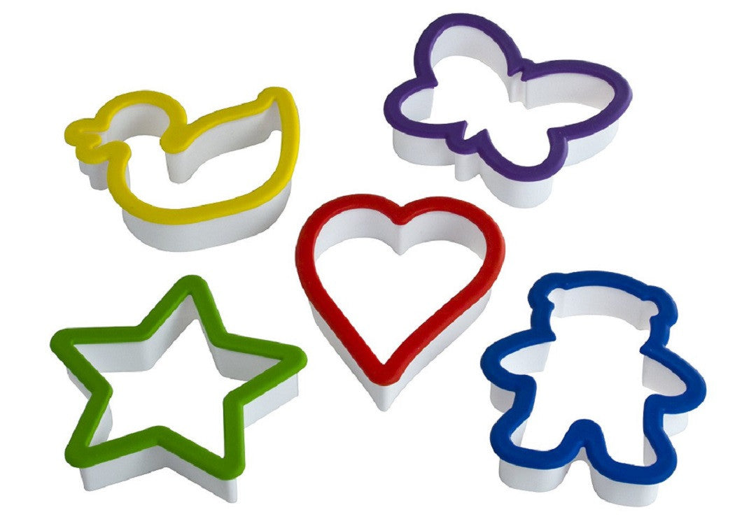 5 Piece Cookie Cutter Set - Cooking Supplies - Curious Chef - Off The Wall Toys and Gifts