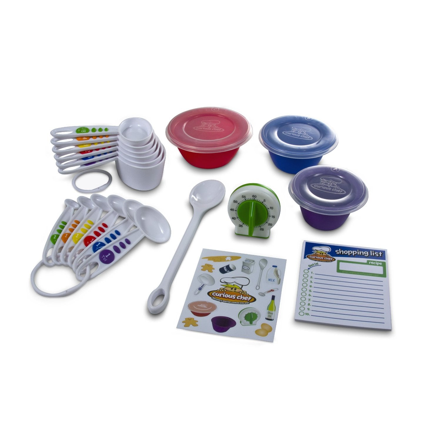 17 Piece Measure and Prep Childrens Kitchen Set from Curious Chef - Off The Wall Toys and Gifts