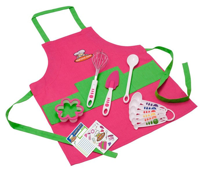11 Piece Girl's Chef Kit - Cooking Supplies - Curious Chef - Off The Wall Toys and Gifts
