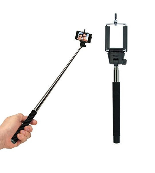 Bluetooth Selfie Stick w/Rechargeable Battery - Extendable Up To 39""