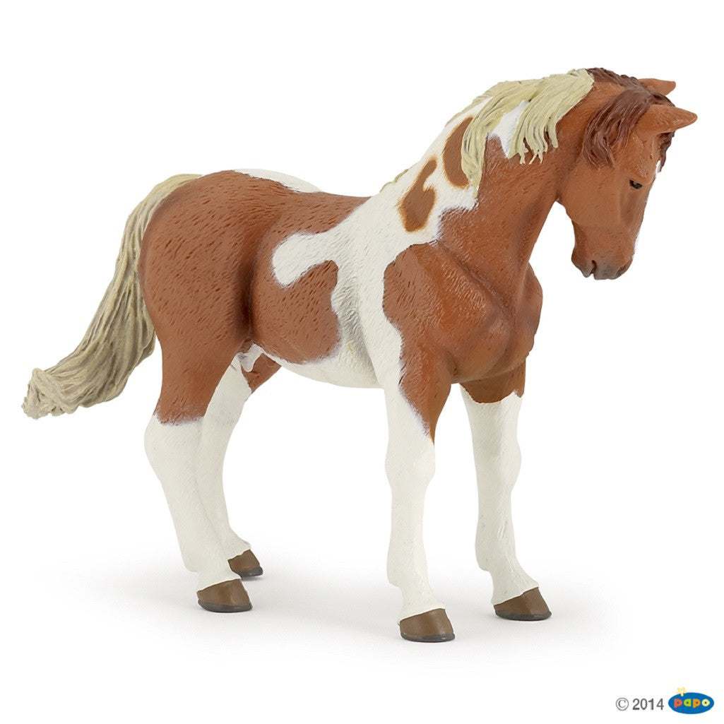 "5"" Long Pinto Mare - Realistic Animal Replica, by Papo - Off The Wall Toys and Gifts"