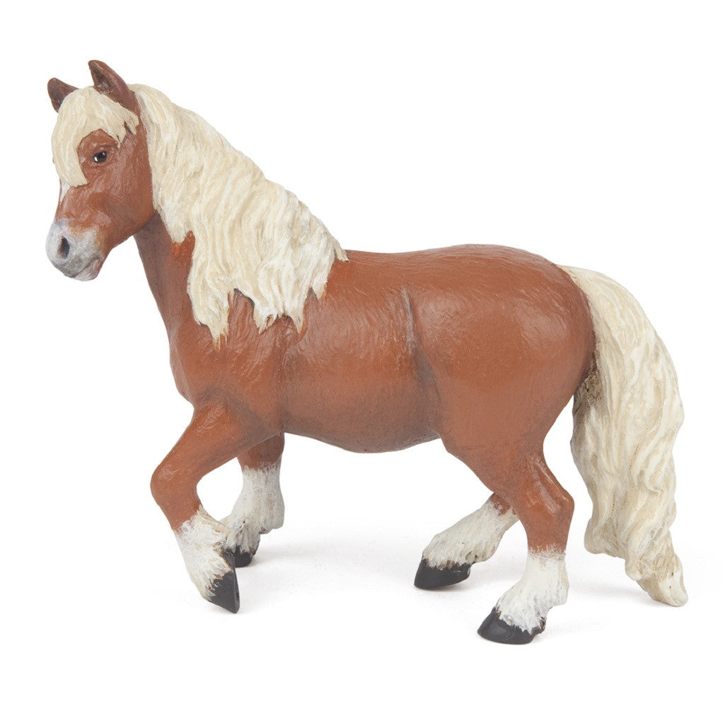 "4"" Shetland Pony- Realistic Animal Replica, by Papo - Off The Wall Toys and Gifts"