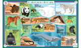 Endangered Animal Species - Activity Placemat by Tot Talk - Off The Wall Toys and Gifts