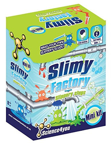 Science4You Mini Kit Slimy Factory - 2 Experiments to Make Your Own Slippery Slugs - Off The Wall Toys and Gifts