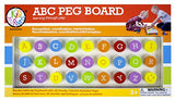Bead Bazaar ABC Peg Board - Off The Wall Toys and Gifts