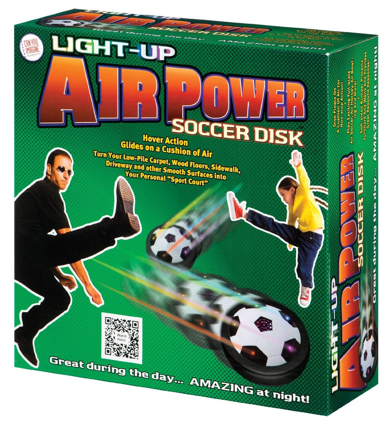 Light-Up Air Power Soccer Disk w/LED Lights - Off The Wall Toys and Gifts