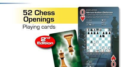 Chess Openings Playing Cards Basic Deck of 52 - Off The Wall Toys and Gifts