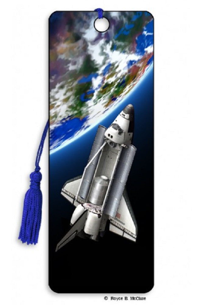 Orbit Space Shuttle 3D Lenticular Bookmark by Artgame