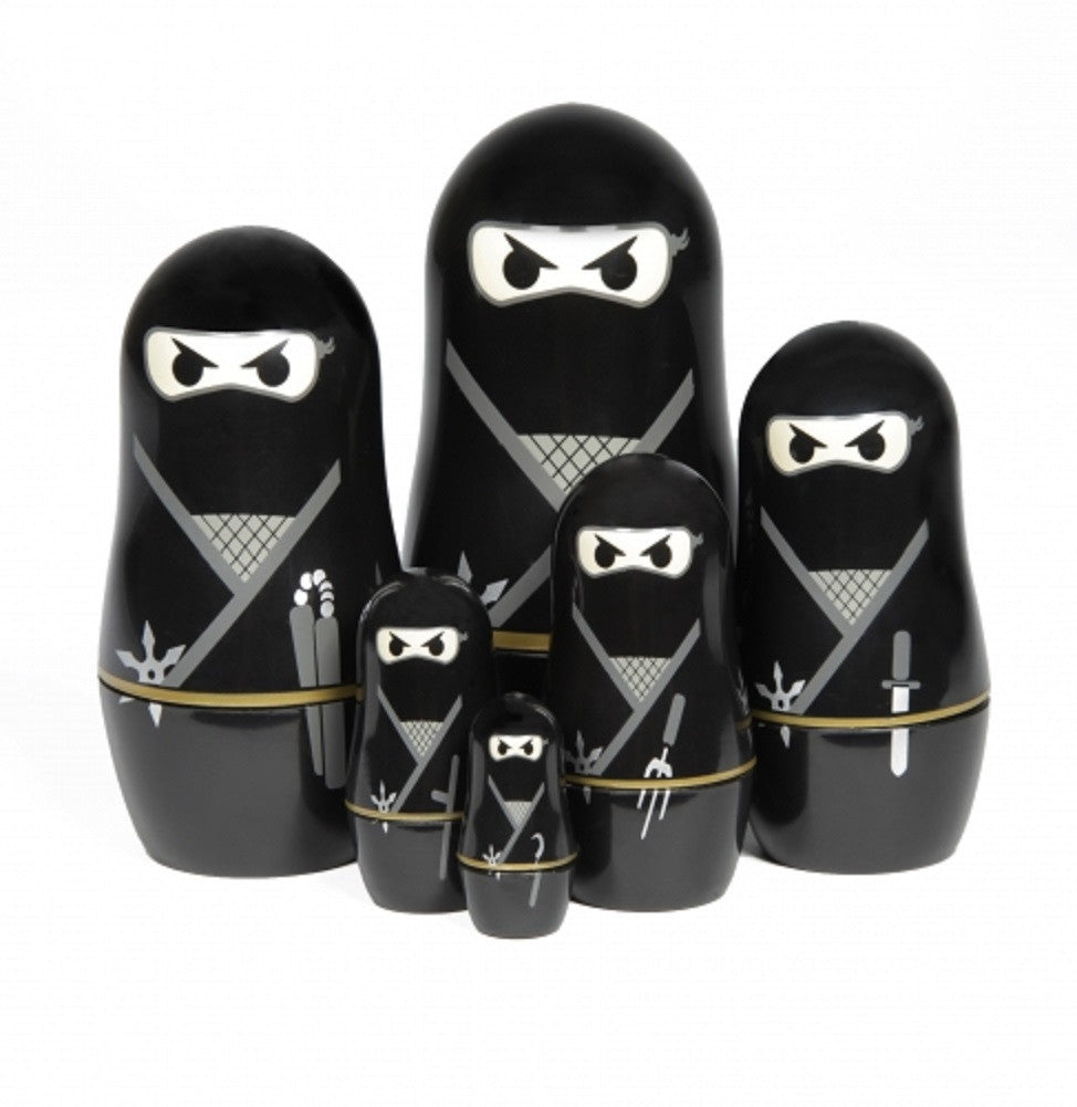 Ninja Set of 6 Russian Nesting Dolls by Thumbs Up! - Off The Wall Toys and Gifts