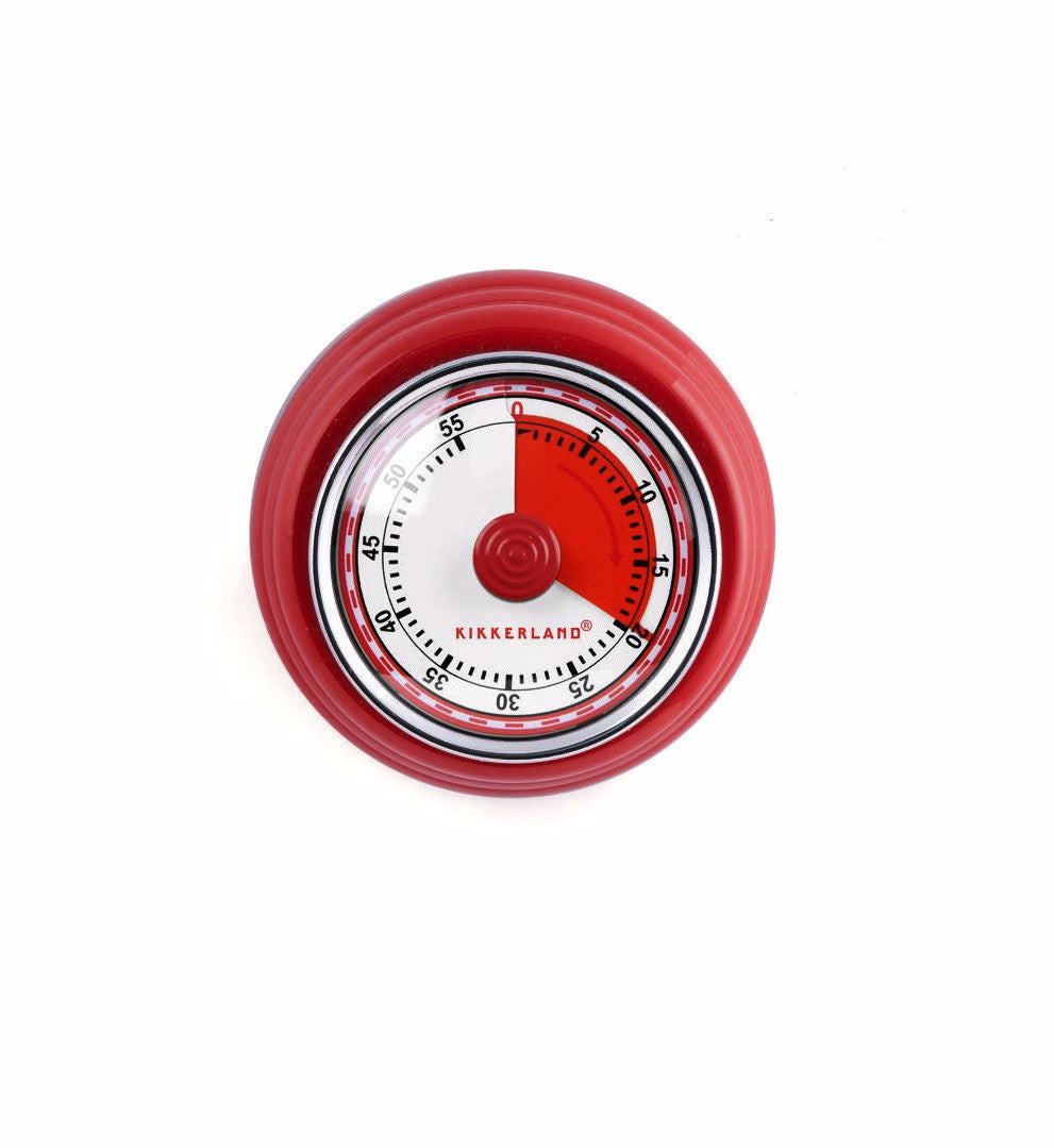 60 Minute Magnetic Red Kitchen Timer