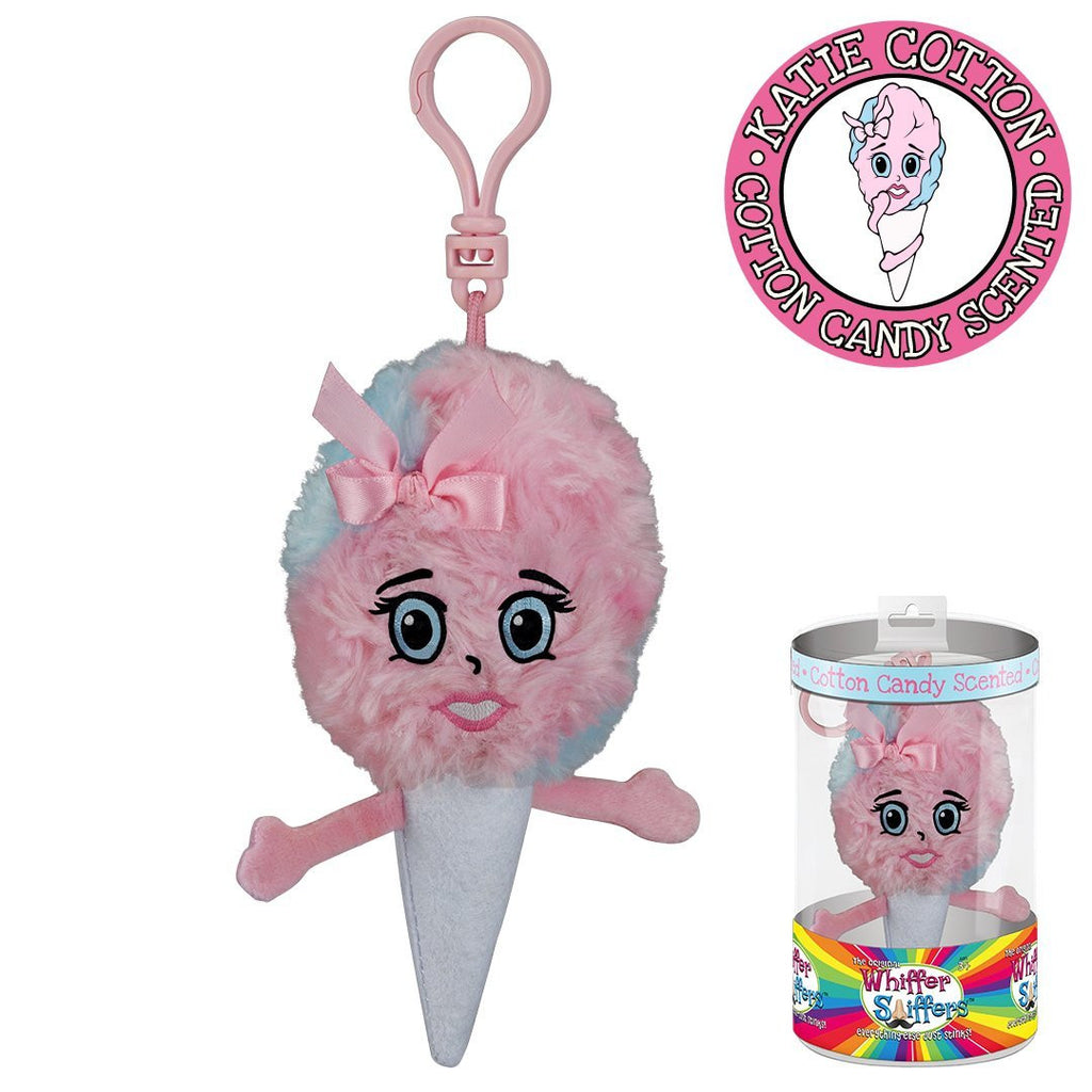 Whiffer Sniffers Katie Cotton - Cotton Candy Scented Plush Backpack Clip