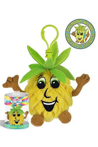 Whiffer Sniffers Kaumana Wanna Smellya - Retired Pineapple Scented Plush Backpack Clip
