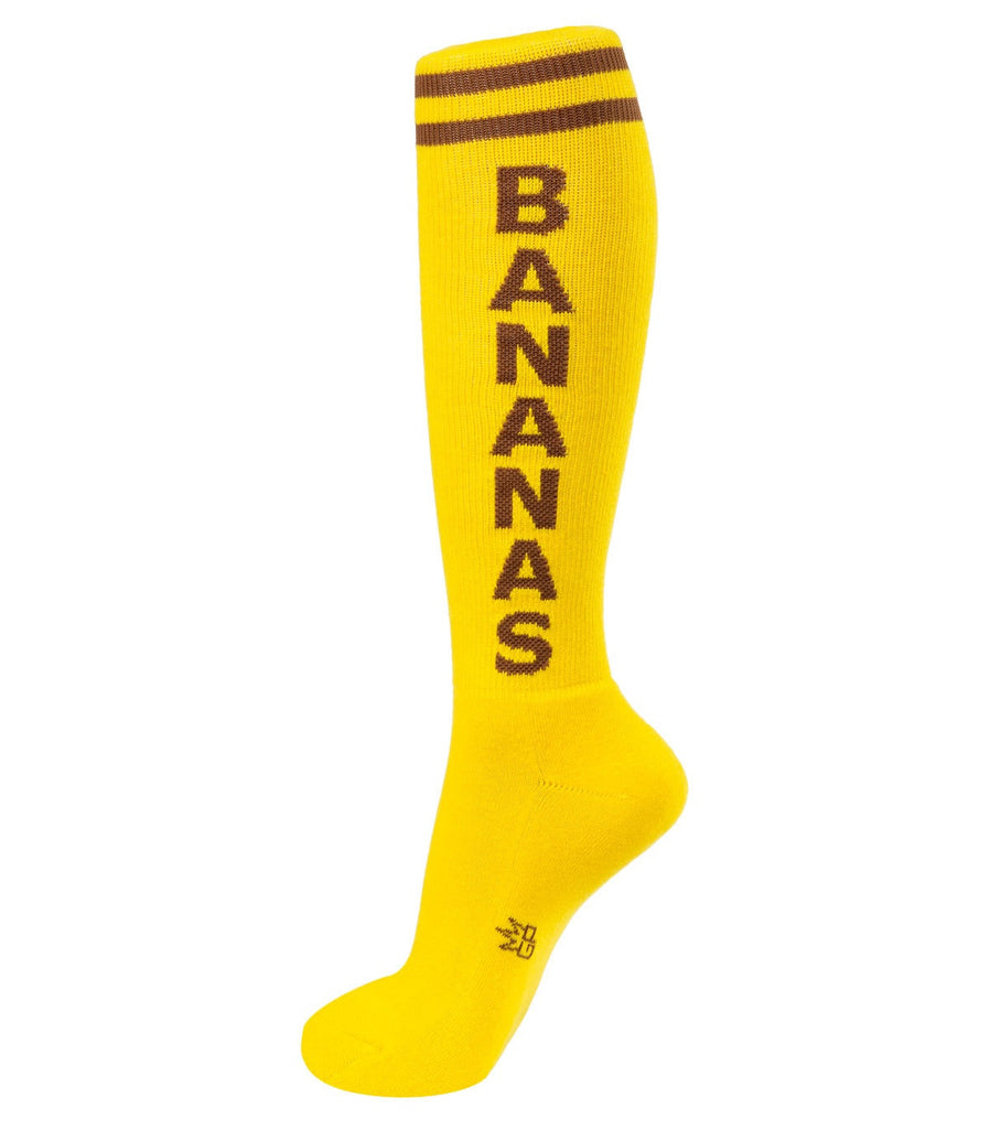 Bananas Socks - Brown and Yellow Unisex Knee Socks