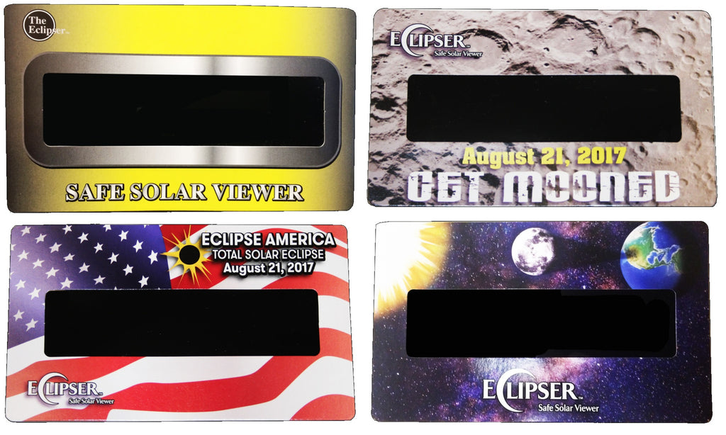 The Eclipser Safe Solar Viewers, CE Certified - Set of 4 Eclipse Viewers