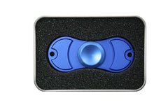 Blue Spinner Squad Metal Dual Edition Fidget Spinner, w/Carrying Case