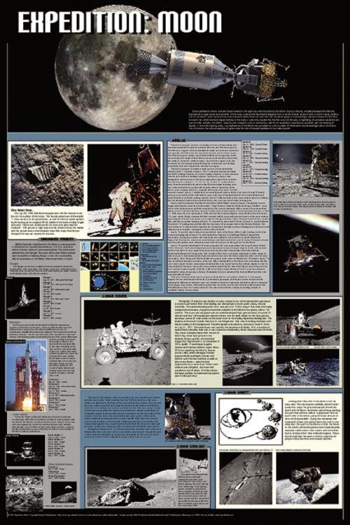 Expedition: Moon Poster 24x36  Views From Space - Off The Wall Toys and Gifts