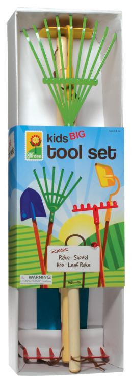 Kids Big Four Piece Gardening Tool Set Toysmith