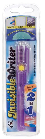 2 in 1 IQ Invisible Writer Pen - Real Pen with Blacklight