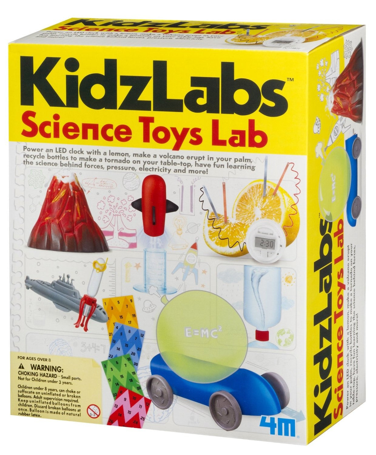 4M KidzLabs - Science Toys Lab w/8 Experiments - Off The Wall Toys and Gifts