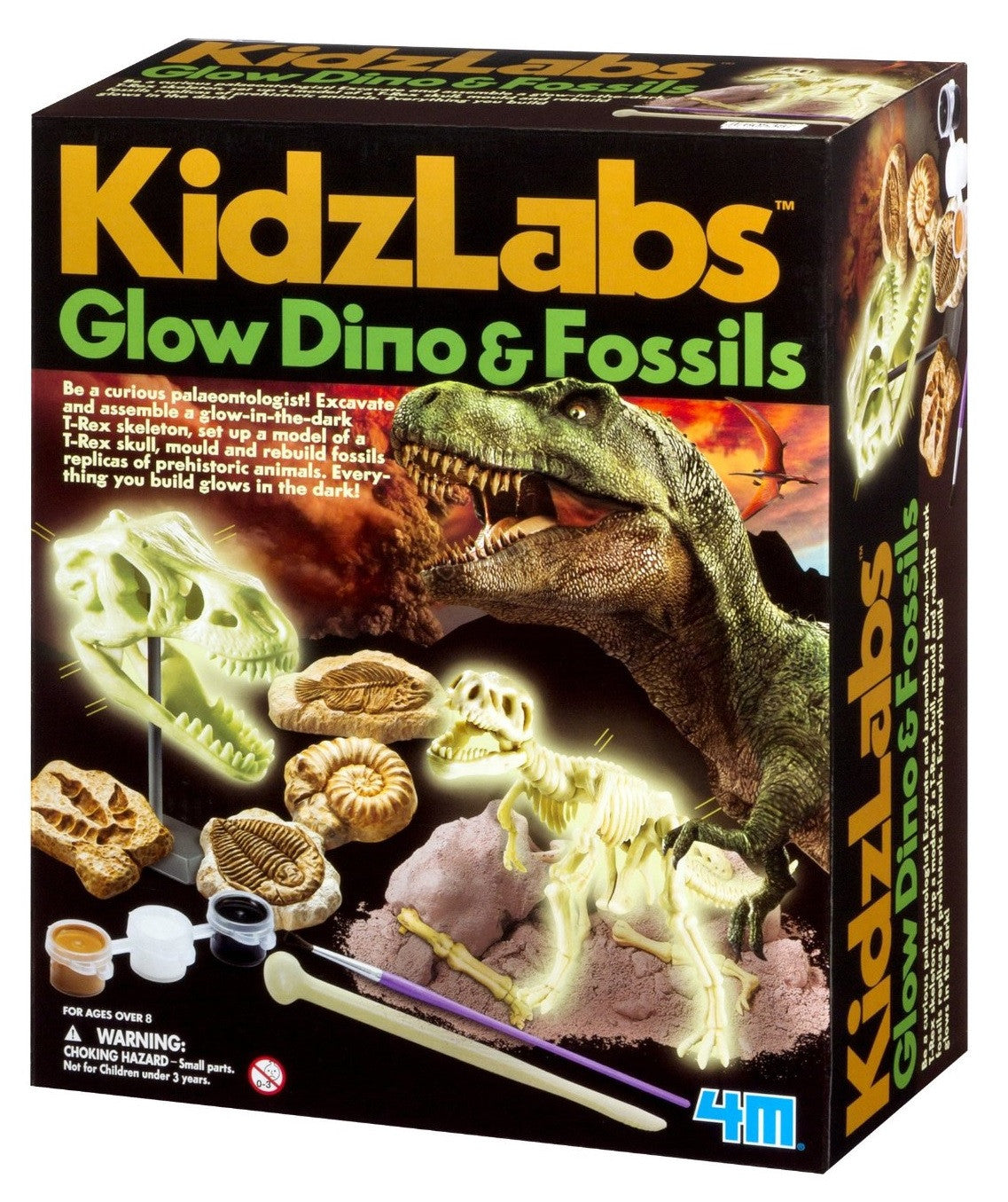 KidzLabs Glow Dino & Fossils Dinosaur Excavation Kit - Off The Wall Toys and Gifts