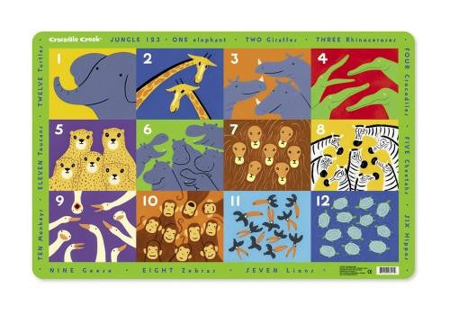 Jungle 123 Placemat by Crocodile Creek - Off The Wall Toys and Gifts