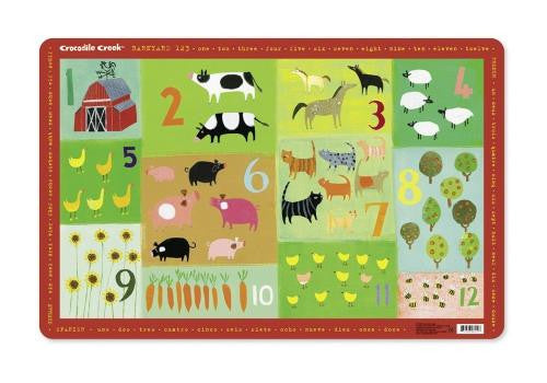 Barnyard 123 Placemat by Crocodile Creek - Off The Wall Toys and Gifts