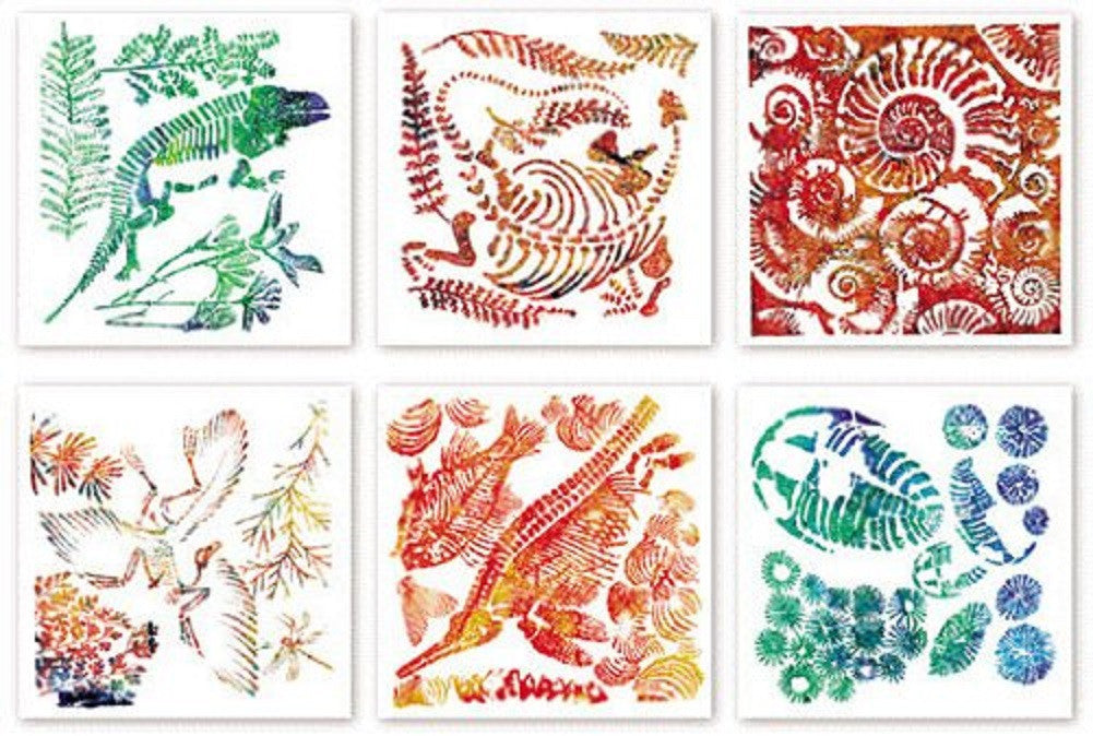 Fossil Rubbing Plates - Science Art & Craft 6 Pk by Roylco - Off The Wall Toys and Gifts