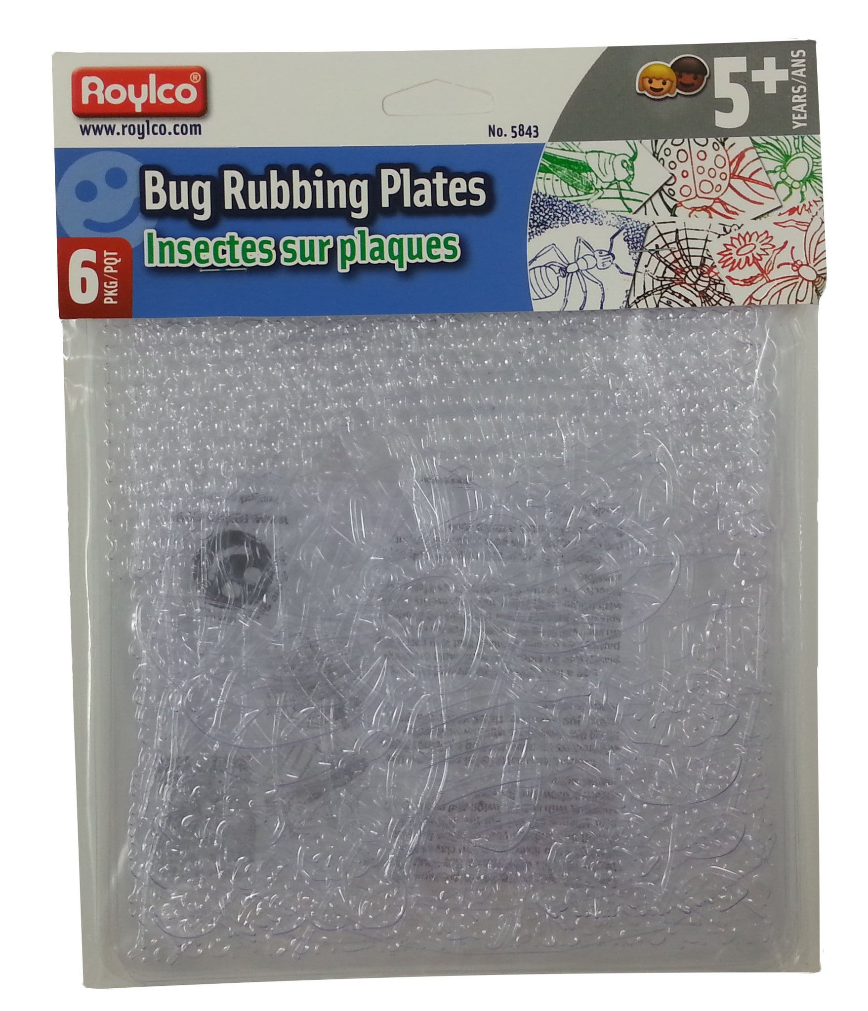 BUG Rubbing Plates 6 Pk by Roylco - Off The Wall Toys and Gifts