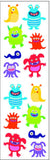 Mrs Grossman's Stickers - Little Monsters - Off The Wall Toys and Gifts