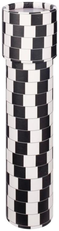 7.5 inch Kaleidoscope Black & White Optical Illusion Print - Off The Wall Toys and Gifts