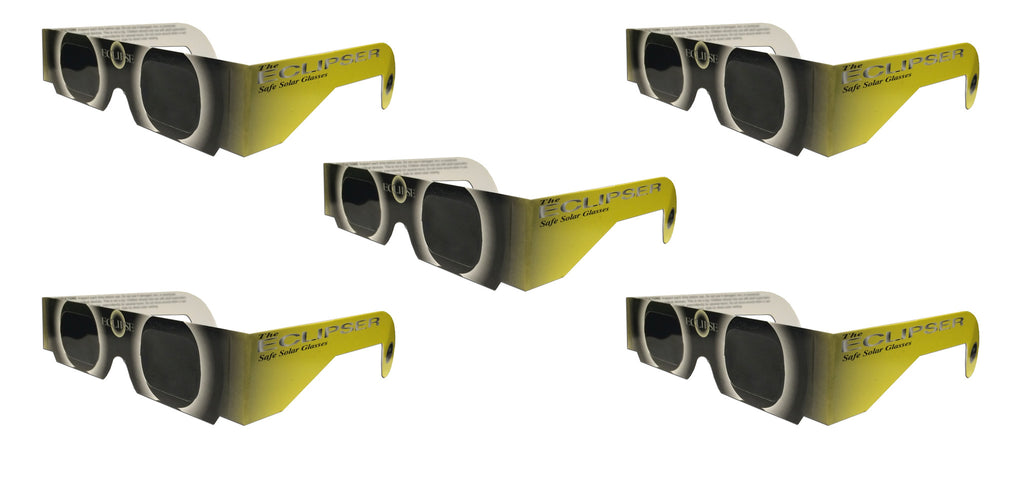 The Eclipser Safe Solar Eclipse Glasses CE Certified - 5 Pack